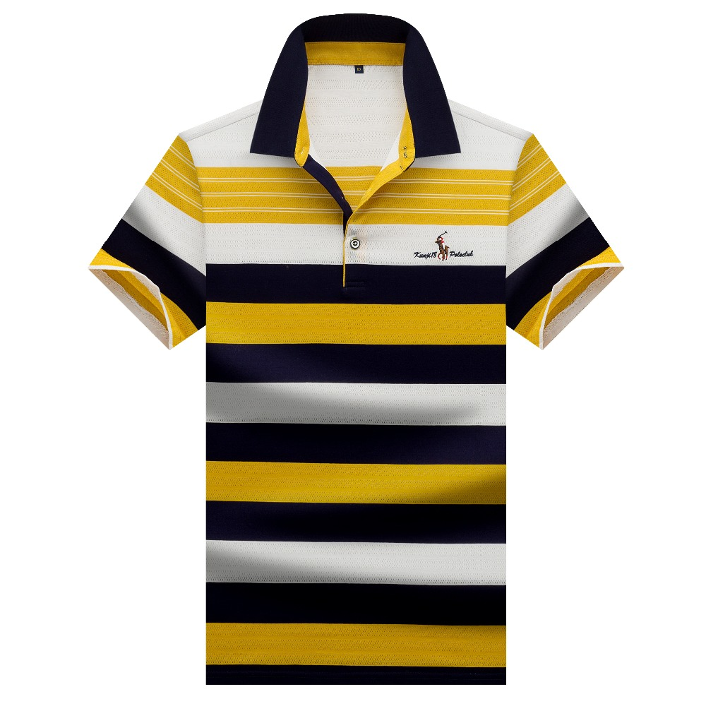 New Summer 2019 men's   polo   shirt short sleeve high quality striped man   polo   shirts hombre 3D embroidery casual business shirts