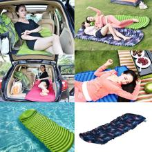New Arrival Apricot Inflatable Car Mobile Cushion Seat Sleep Rest Mattress Air Bed jy27
