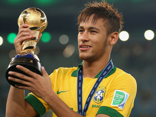 Neymar Silk Wall Poster Super Brazil Soccer Player Sport Star Home