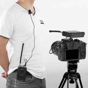 Image 4 - BOYA BY WFM12 VHF מיקרופון אלחוטי מערכת דש Lavalier מיקרופון עבור iPhone 8 7 בתוספת Smartphone DSLR מצלמה וידאו חי הקלטה
