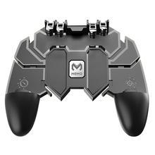 Mobilny kontroler typu Joystick PUBG AK66 sześć palców uniwersalny Gamepad dla PUBG IOS Android L1 R1 wyzwalacz operacyjny Gamepad