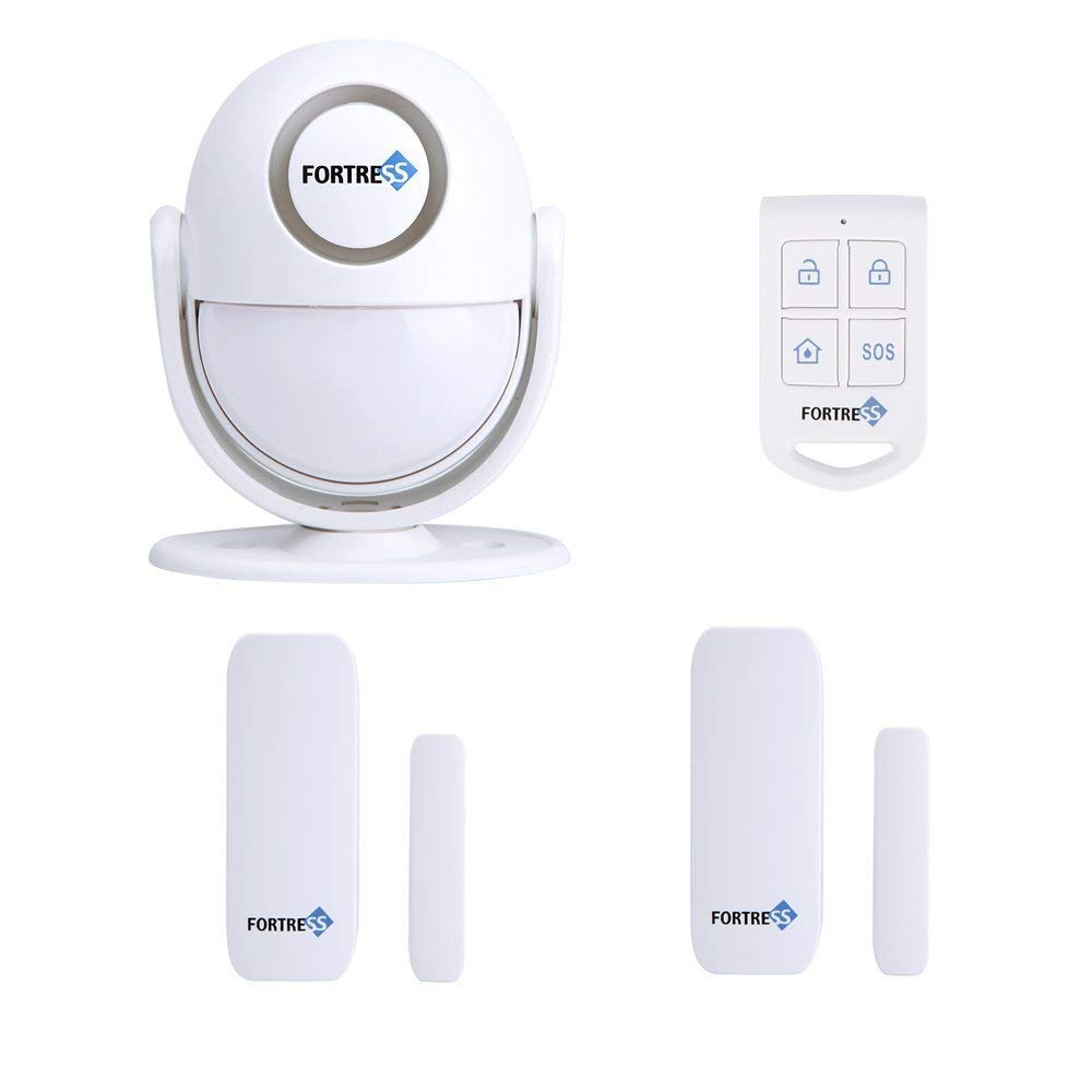 Fortress All-in-One Wireless Guardian Home Security Alarm System Door Window Sensor Motion Detection Burglar Alarm Host DIY Kit
