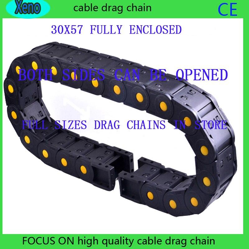 30x57 10 Metros Totalmente Fechado Tipo Reforçado Nylon cabo de Reboque de Engenharia Para A Máquina de Gravura