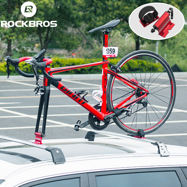 ROCKBROS Bicycle Car Racks Carrier Quick release Alloy Fork Car Bike Block Alloy Mount For MTB