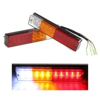 New Pair 12V ATV Truck 20 Led Trailer Rear Tail Brake Reverse Light Turn Signal Lamp