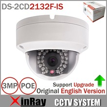 Original English Version HIKVISION DS-2CD2132F-IS 3MP Mini Dome Camera 1080P POE IP CCTV Camera Updatable