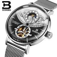Schweiz Uhr Männer BINGER Automatische Mechanische Männer Uhren Luxus Marke Sapphire Relogio Masculino Wasserdicht Männer Uhr B-1-2