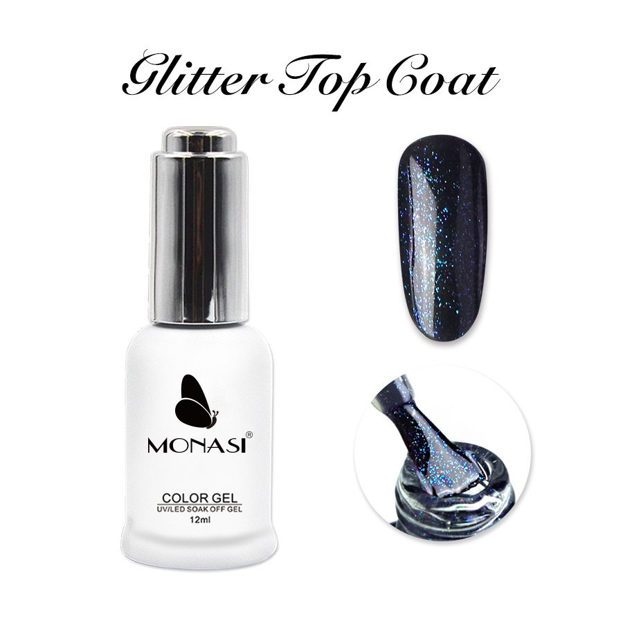 12ml UV Top Base Coat Gel Varnish,Rubber Base Coat,Glitter Top Coat No Wipe,3D Gel Paint Nail Art