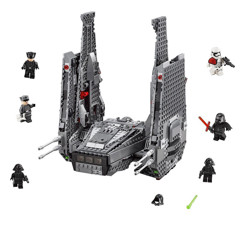 Star Series Wars Kylo Ren 05006 Command Shuttle Model Building Blocks Kit Educational Toys Compatible Legoinglys Gift 75104 4pcs cnc lathe turning tool holder 6 7 8 10mm sclcr06 boring bar 10pcs ccmt060204 carbide inserts durable blades 4pcs wrench