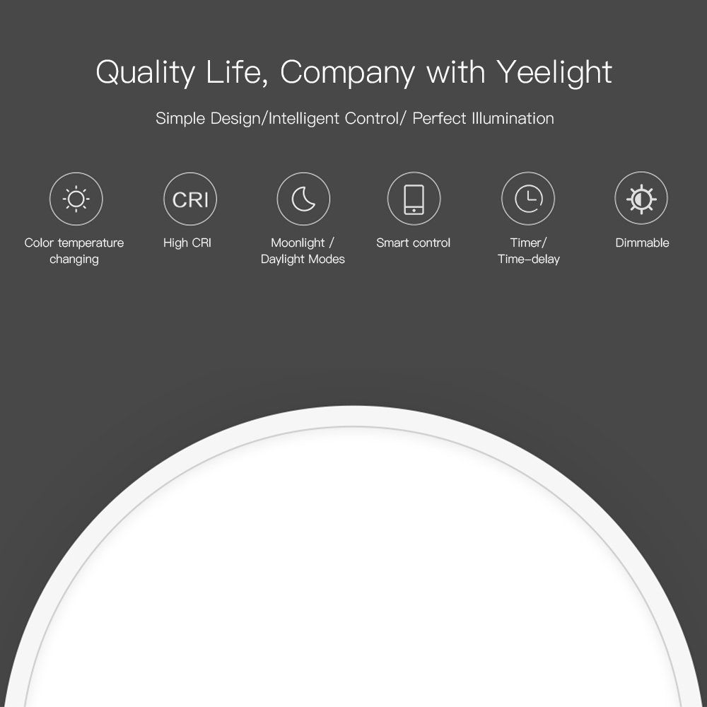 for Xiaomi Yeelight YLXD01YL Ceiling Light 240 LED Intelligent Ceiling Lights for mijia WIFI Phone App/ BT Remote Controller