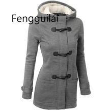 Winter Jacket Women Hooded Winter Coat Fashion Autumn Women Parka Horn Button Coats Abrigos Y Chaquetas Mujer Invierno стоимость