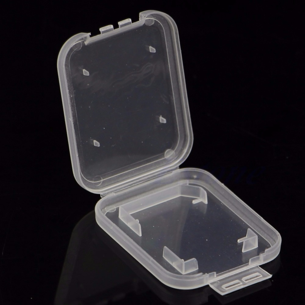 10Pcs/set SD SDHC Memory Card Holder Transparent Plastic Box Storage Case Protector Good Quality C26