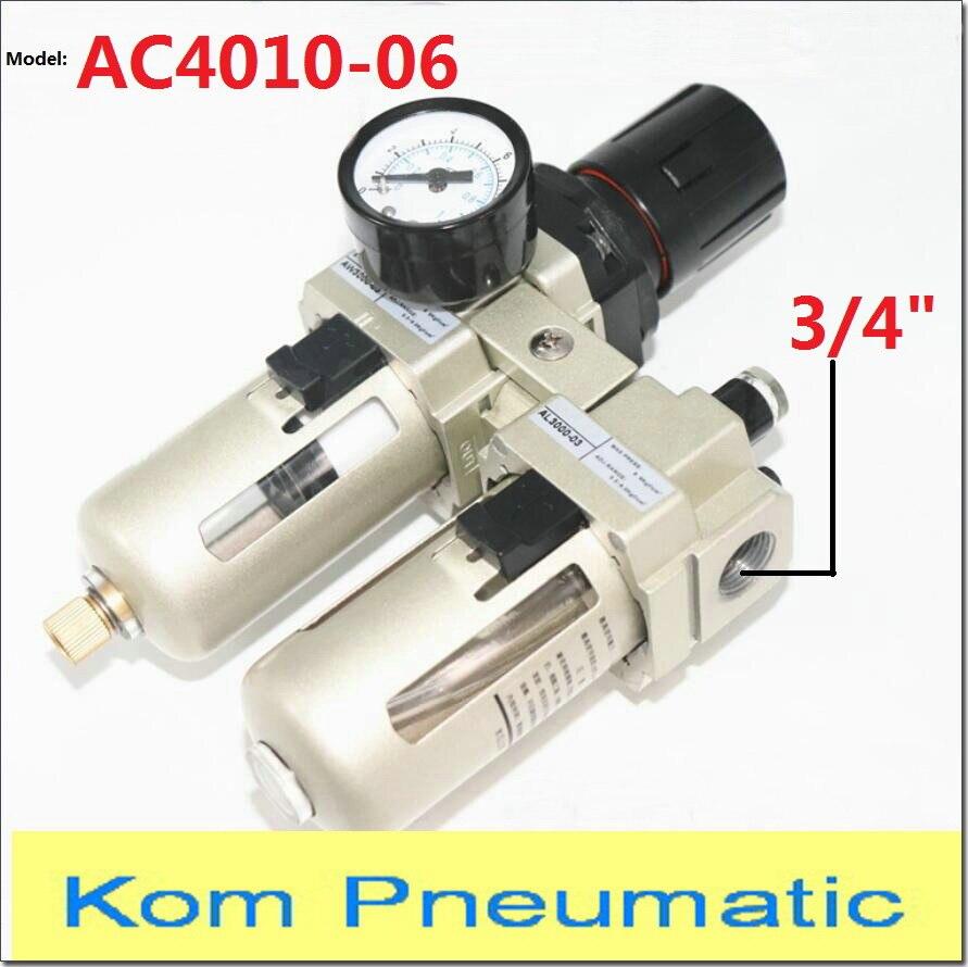 AC 4010 06 Pneumatic Pump Compressor Air Filter Regulator Lubricator Union 3 4 bsp AW AL