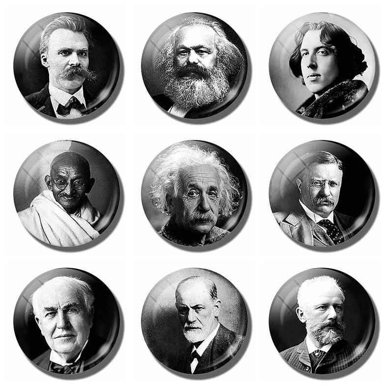 Oscar Wilde Karl Marx Nietzsche Albert Einstein Theodore Roosevelt Sigmund Freud Miếng Dán Từ Tính Tủ Lạnh Nam Châm Trang Trí Lưu Niệm