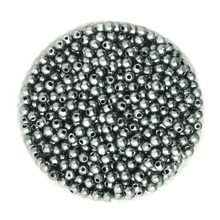 new fashion Wholesale 4mm Dia. 1000pcs/lot Round Pearl Imitation Plastic Pearl Beads Gray for You to DIY jewelry BSG01-01GY(China)