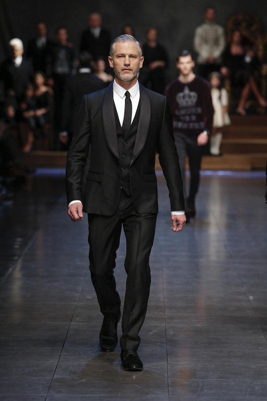 New Arrival Groom Tuxedo Black Groomsmen Shawl Lapel Wedding/Dinner Suits Best Man Bridegroom (Jacket+Pants+Tie+Vest)B380