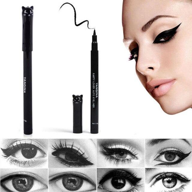 1 Pc NEW Cat Style Black Long-lasting Waterproof Eyeliner Liquid Eye Liner Pen Pencil Makeup Cosmetic Beauty Tool Free Shipping 1
