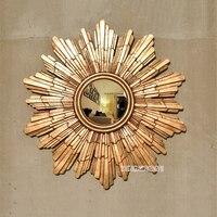 Dia 54cm European Style Wall Decorative Mirrors Sun Mirrors Modern Gold/Silver Color KTV/Club/Living Room Wall Decor