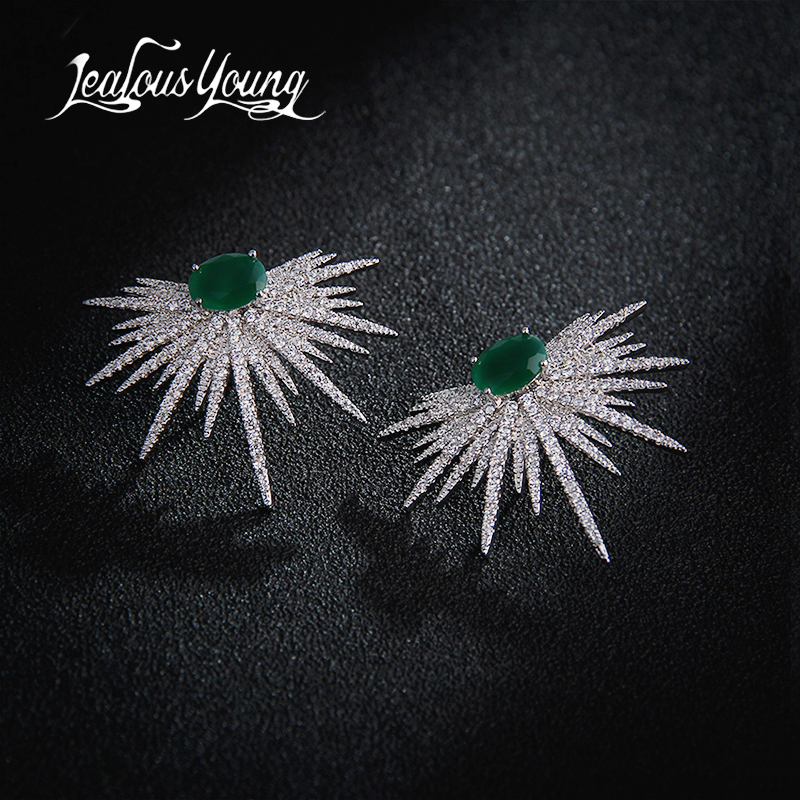 New Arrival Earrings For Women Temperament White Zircon Rhinestones Unique Design Brand Earings Fashion Jewelry Bijoux AE210