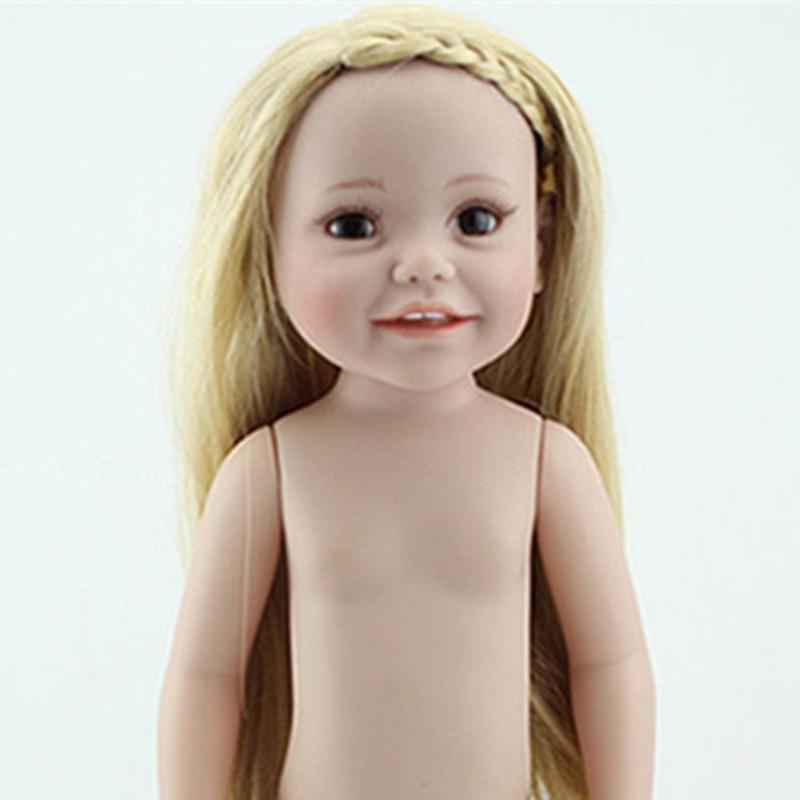 American Girl Dolls New Silicone Reborn Dolls Naked Doll 45cm Lifelike Baby Reborn Realistic Naked Newborn