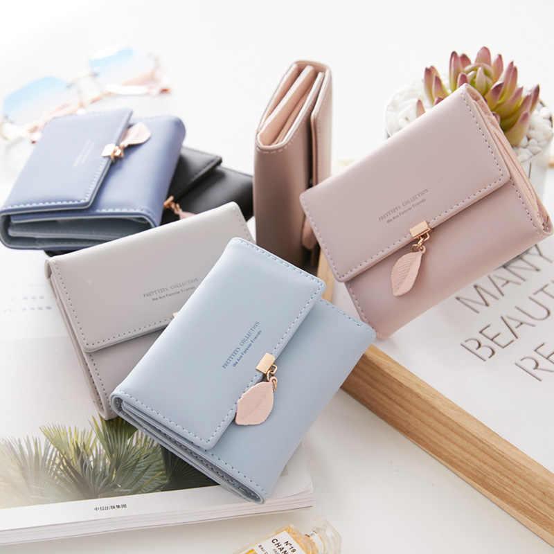 Новый Для женщин Искусственная кожа лист короткие кошелек женский кошелек Портмоне деньги сумка Винтаж держателей карт Для женщин с небольшой кошельки
