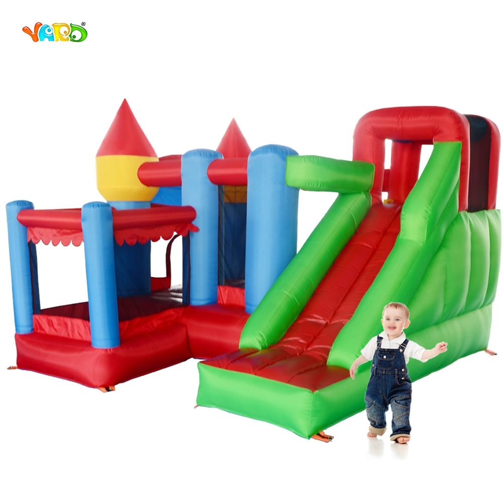 YARD Fedex Free Shipping 6 in 1 All-round Inflatable Bouncer Giant Bouncy House Castle For Kids Party Special Offer For ASIA yard free shipping bouncy dream castle inflatable jumper bouncer 6 in 1 all round obstacle combo for home use
