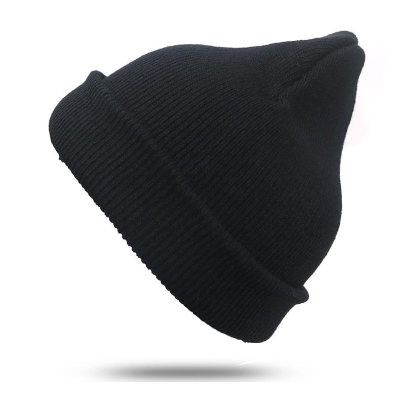 1Pcs Black Knitted Hat   Beanies   For Men/Women Hats Bonnet Femme Girls Hat Unisex   Beanies   Casual Cap Bonnet Femme   Skullies     Beanies