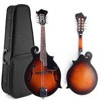 39 Sunset F Model Mandolin 8 Strings Concert Ukulele Bass Guitar With Ukulele Case For Musical