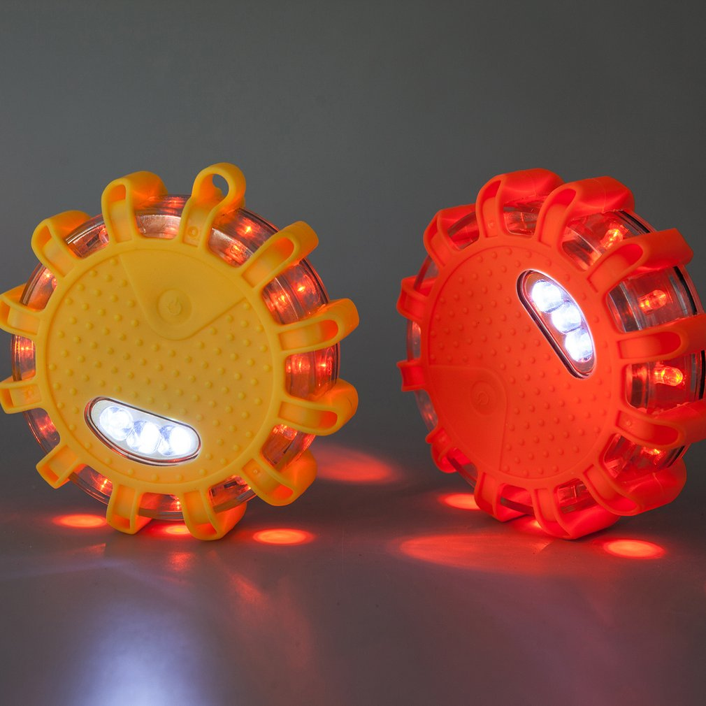 2pcs LED Warning Light Multi-functional LED Indicator Lights AAA Powered Traffic Safety Warning Indicator Lightings Dropshipping
