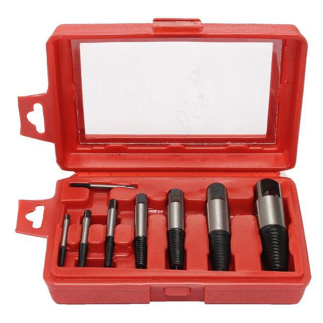 Горячая продажа! 8 шт. Сталь Винт Набор для Съема Двухсторонний Болт Сломанной Трубы Remover Tool Kit