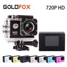 Goldfox Открытый Спорт Мини действий Камера Go Водонепроницаемый Pro 30 м Дайвинг 720 P HD видео Камера велосипед шлем Камера