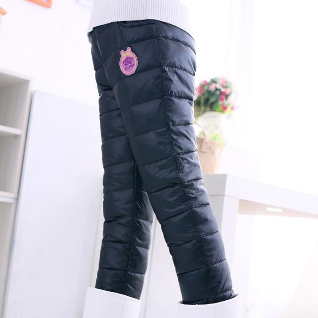 Grandwish inverno meninas padrão impresso calças outono calças compridas grossas para meninos crianças calças quentes calças casuais comprimento total 4 t-12 t, SC408