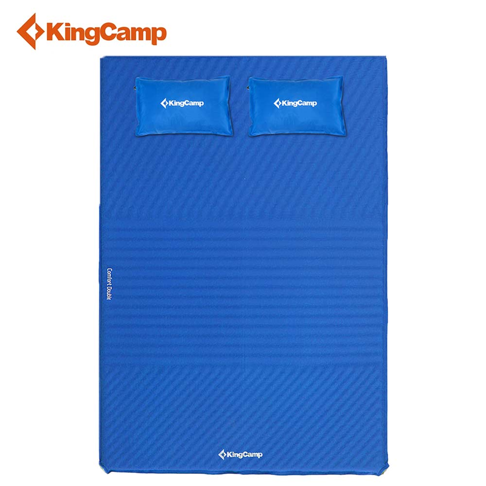 KingCamp 2-Person Camping Mat Comfort Self-Inflating Ultralight Damp-Proof Sleeping Pad with Pillows for Outdoor high quality outdoor 2 person camping tent double layer aluminum rod ultralight tent with snow skirt oneroad windsnow 2 plus