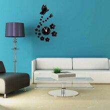 Acrylic clocks watch wall clock modern design 3D crystal mirror watches home decoration living room