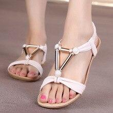 Женская обувь женские босоножки в богемном стиле Стиль лодыжки ремень Сланцы летние Обувь Женская Дамская обувь sandalias mujer