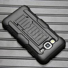 Heavy Duty Armor Impact Hybrid Shockproof Hard Case Cover For AT&T Samsung Galaxy Express Prime+Holdster With Belt Clip