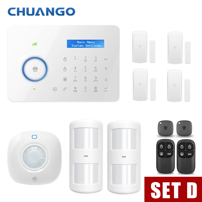 Android IOS App Wireless GSM Home Alarm System SIM Smart Home Burglar Security Alarm ios android app smart control wireless gsm touch lcd shock window home secure burglar system