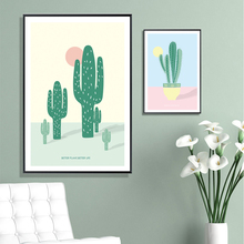 Potted Cactus Succulent Green Plant Nordic Posters And Prints Wall Art Canvas Painting Pictures For Living Room Home Decor