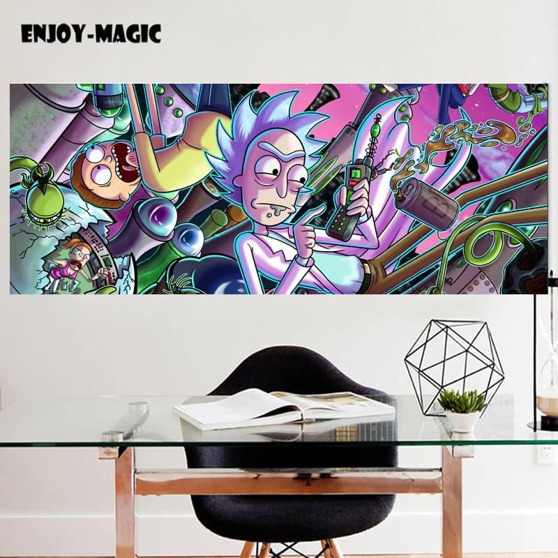 GroBartig Rick Und Morty Malerei Wohnkultur Leinwand Poster Wohnzimmer Wandkunst Bild  Drucken Modernes Ölgemälde Retro Poster 1019