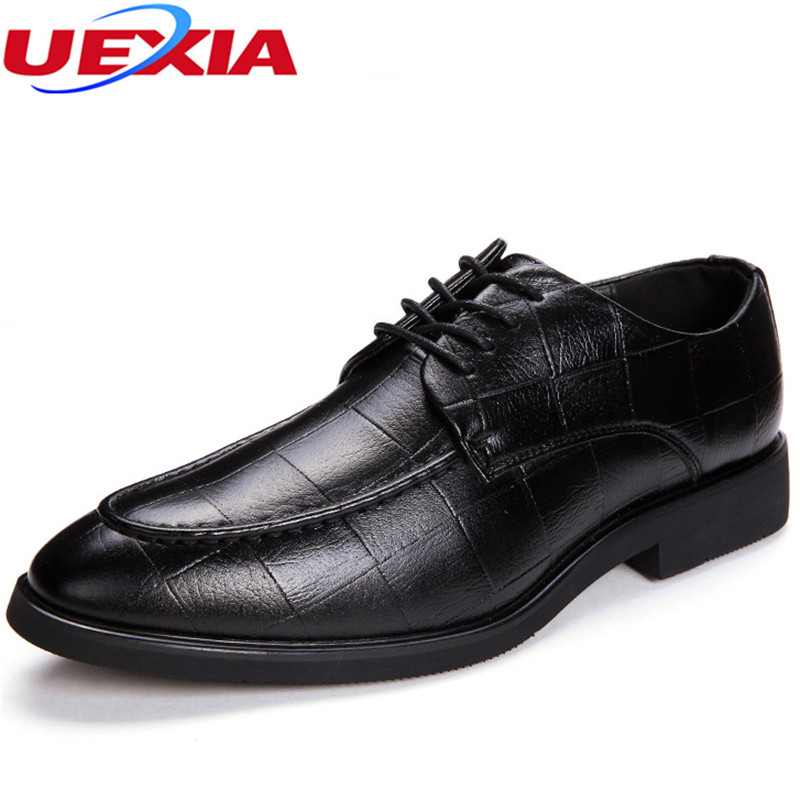 UEXIA Pointed Toe Microfiber Dress High Top Oxfords Crocodile Pattern Oxfords font b Shoes b font
