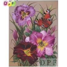 DPF diamond embroidery Color Butterfly and Flower diamond painting cros stitch neendlework rhinestone home decor diamond mosaic