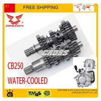 countershaft zongshen 250cc CB250 water cooled countshaft mainshaft transmission gear M 4 counter shaft count shaft main comp