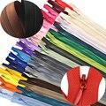 50 teile/los 3 #(6-24 Inch) geschlossenen Ende Nylon Spule Reißverschlüsse Schneider zip rutsche verschluss Nähen DIY Handwerk Kleidung Zubehör (15-60 cm)