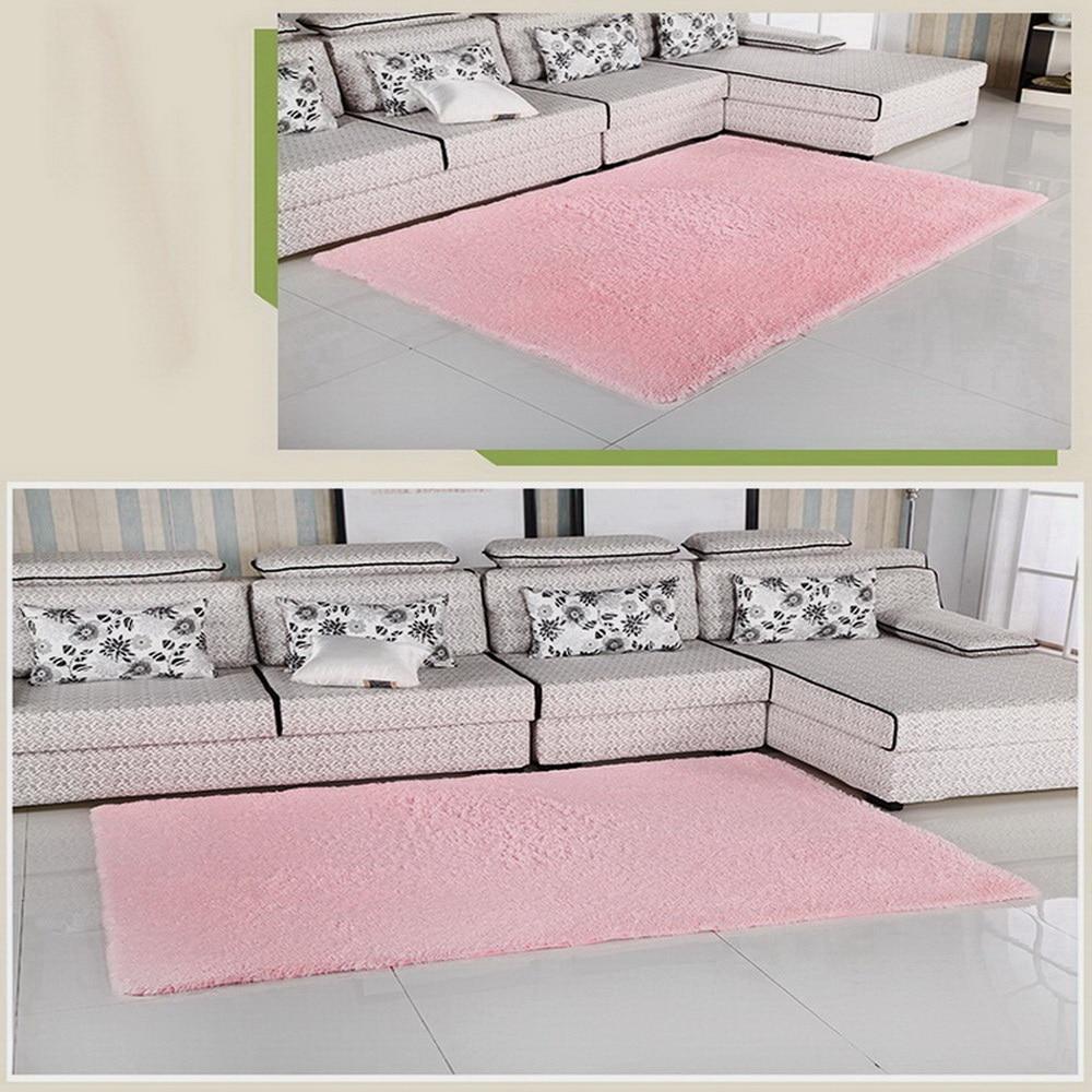 Pink color super soft carpet living room bedroom antiskid for Soft carpet for bedrooms