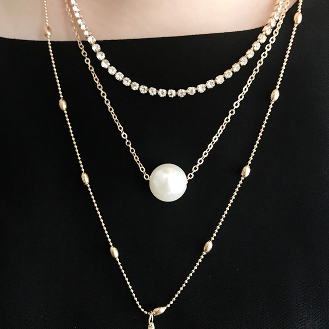 Premium Pearls Necklace Set 4
