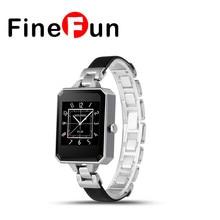 Finefun smart watch lem2 mujeres abrir nuevos smartwatch bluetooth monitor de ritmo cardíaco mtk2502c apk de android ios teléfonos