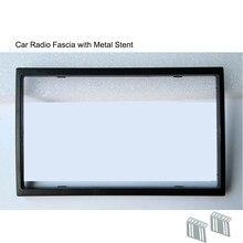 Fascia de som automotivo, rádio para carro 7018b 7010b 8702 7023d 7010g 7018g instalação facial moldura do painel da placa dvd