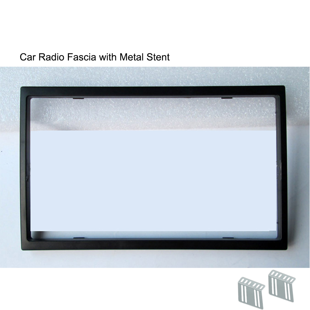 Double Din Car Radio Fascia for Car Radio 7018B 7010B 8702 <font><b>7023D</b></font> 7010G 7018G Installation Trim Fascia Face Plate Panel DVD Frame image