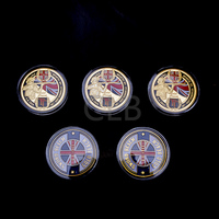 Wholesale 1944.6.6 D Day Commemorative Gold Plated Coin Normandy Amphibiouslanding Campaign Coins with Plastic Case for Gifts