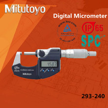 Original Digital Mitutoyo Micrómetro 0-25mm/0.001mm IP65 Sistema Métrico Tornillo Calibre Herramienta de Medición A Prueba de agua